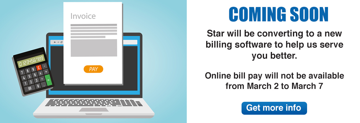 Online bill pay site will be updated